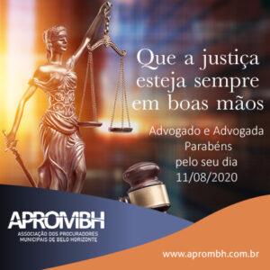Advogado e Advogada Parabéns pelo seu dia! 11/08/2020